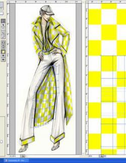 نرم افزار نمایش پارچه بر روی لباس مانکن