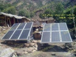 فروش صفحه های  خورشیدی جهت ویلا- مزرعه -باغ- کشاورزی