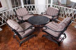 میز صندلی ومبل طرح چدن و فلزی وحصیری