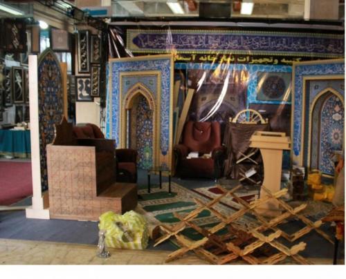 ساخت ارزان نمازخانه،محراب کتیبه دکوراسیون سنتی طاها