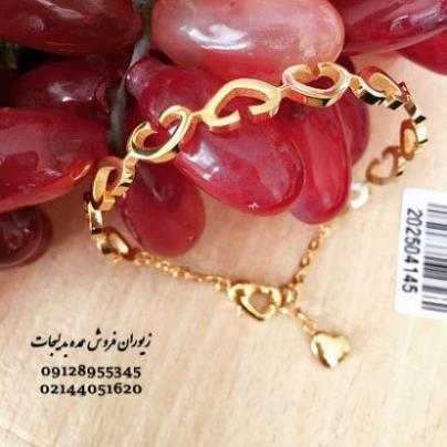 دستبند عمده النگویی قلب دار با قفل قابل تنظیم