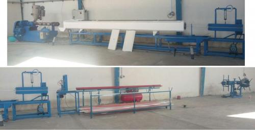 دستگاه تولید لوله سفید و پلی اتیلن