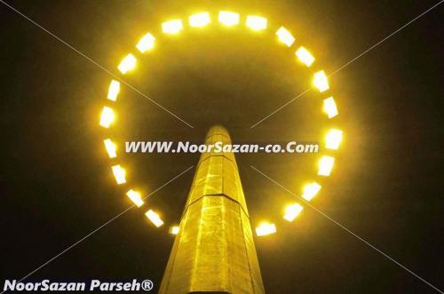 برج روشنایی ،پایه روشنایی و پایه چراغ