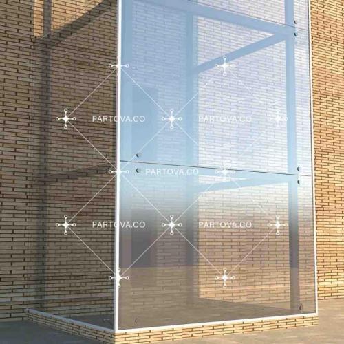 فروش واجرای نمای شیشه ای اسپایدر، کلمپ، سازه ی لوله ای