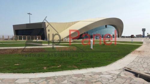 سیستم پوشش قوسی سقف با ورق آلومینیومی زیپ پانل