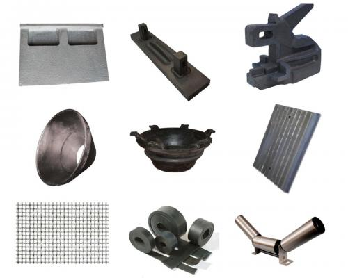 قطعات یدکی انواع سنگ شکن تاسیسات دانه بندی شن و ماسه