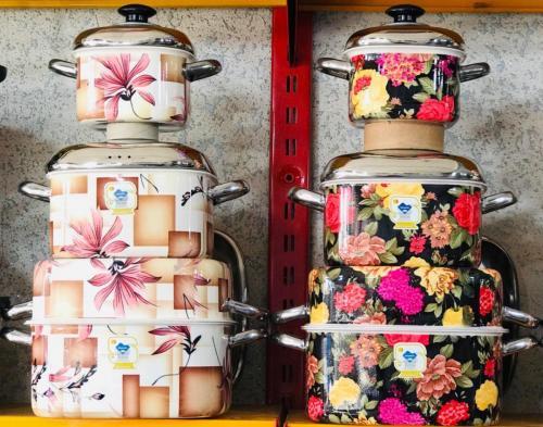 فروش عمده سرویس7 پارچه گرانیتی گلدار چهارگوش