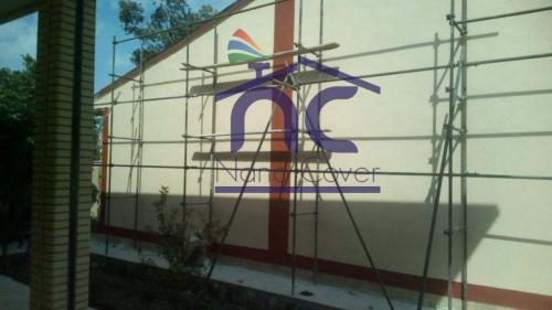 عایق روی دیوار و نمای ساختمان به صورت رنگی