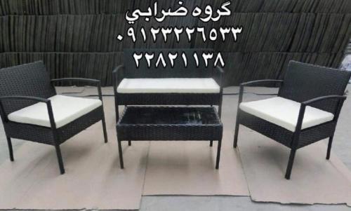 میز صندلی حصیری آتدور