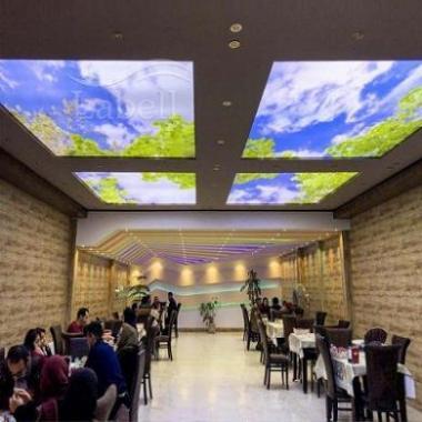 مشاوره،  طراحی و اجرای سقف کشسان لابل ویژه ی فودکورتها
