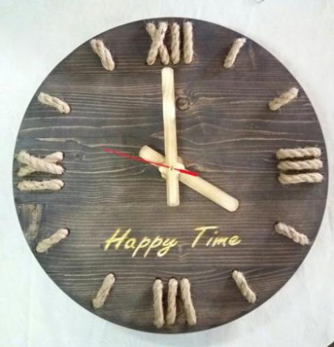 تولید وساخت ساعت دیواری چوبی