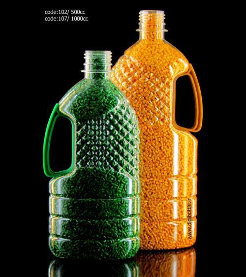 فروش بطری ۵۰۰ سی سی دسته دار روغن کنجد و زیتون
