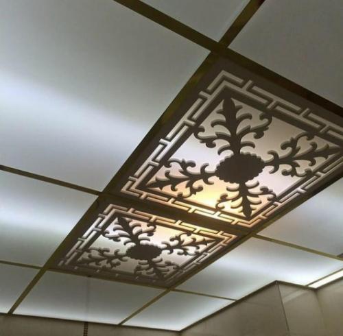 سقف کاذب کناف سقف شبکه طلق معرق ۶۰×۶۰کلیک دیوار کاذب